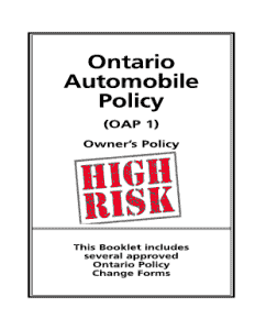 What is a high risk auto insurance policy?